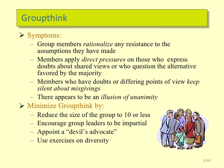 how to reduce group think