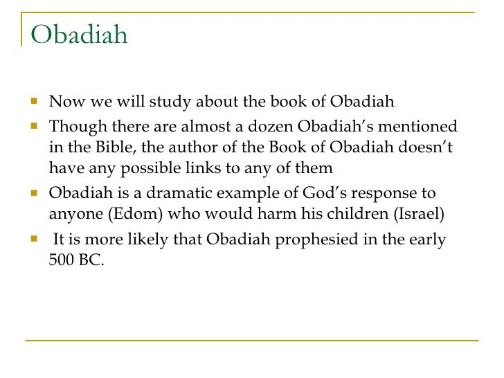 Obadiah Study Guide - ttb.org