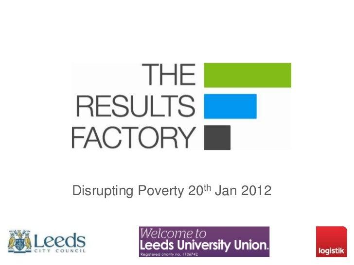 Disrupting Poverty 20th Jan 2012