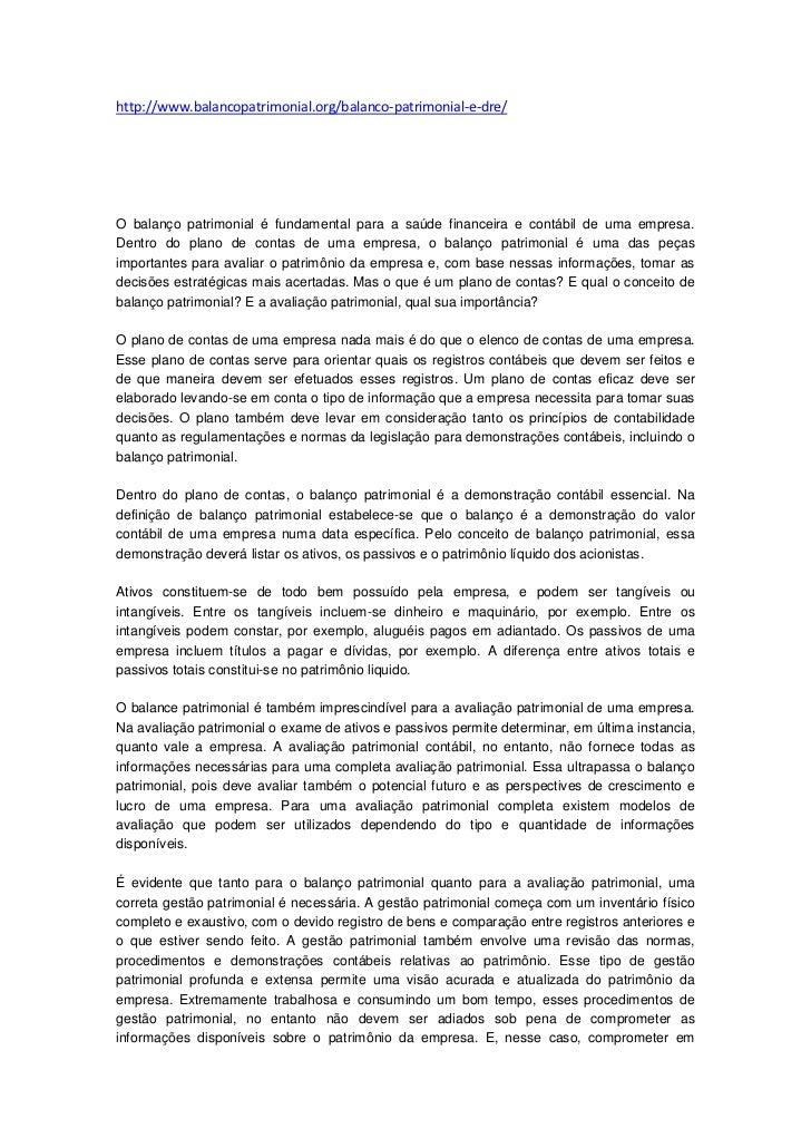 http://www.balancopatrimonial.org/balanco-patrimonial-e-dre/O balanço patrimonial é fundamental para a saúde financeira e ...