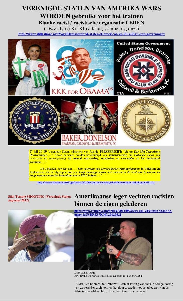 VERENIGDE STATEN VAN AMERIKA WARS            WORDEN gebruikt voor het trainen                    Blanke racist / racistisc...