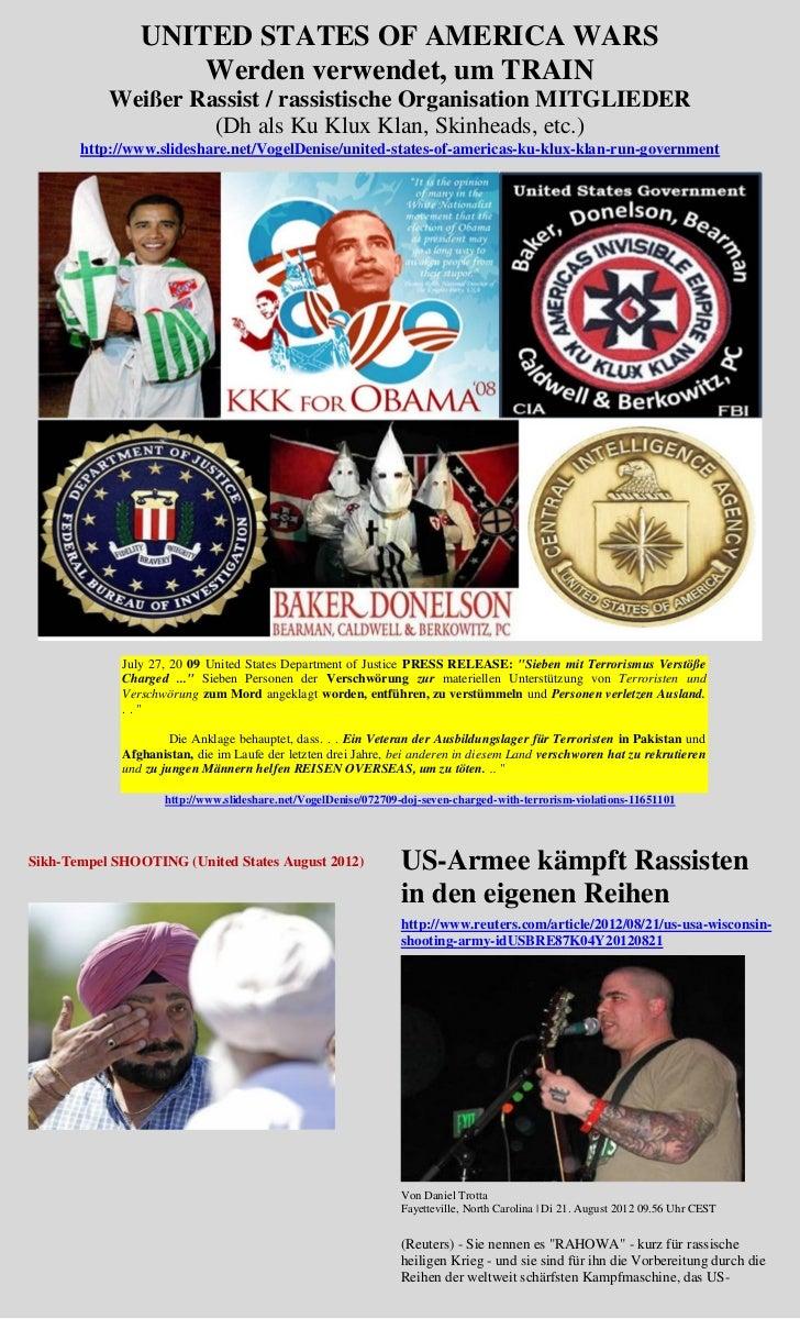 UNITED STATES OF AMERICA WARS                    Werden verwendet, um TRAIN           Weißer Rassist / rassistische Organi...
