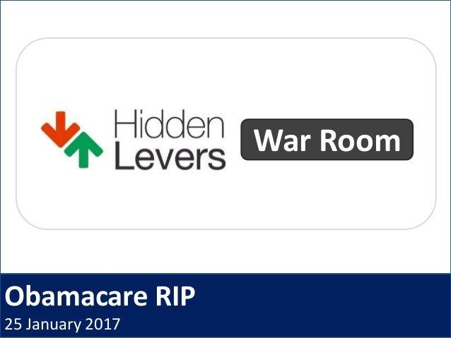 Obamacare RIP 25 January 2017 War Room