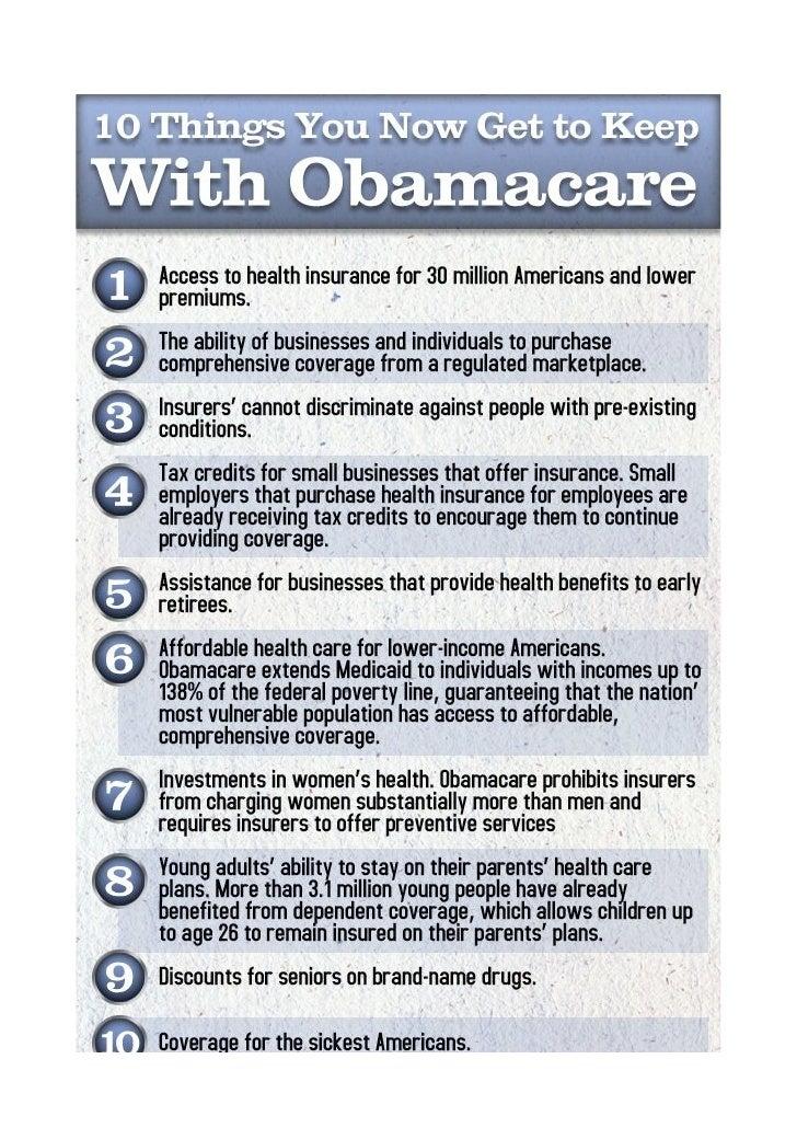 Obama care sintesi
