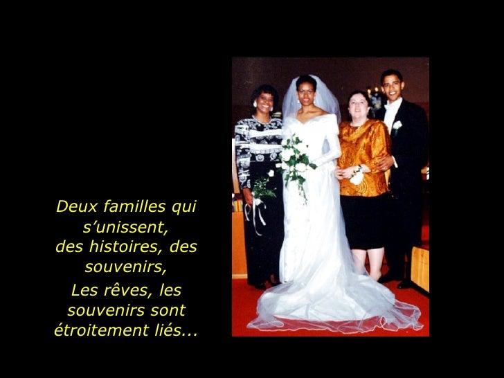 Deux familles qui s'unissent, des histoires, des souvenirs, Les rêves, les souvenirs sont étroitement liés...