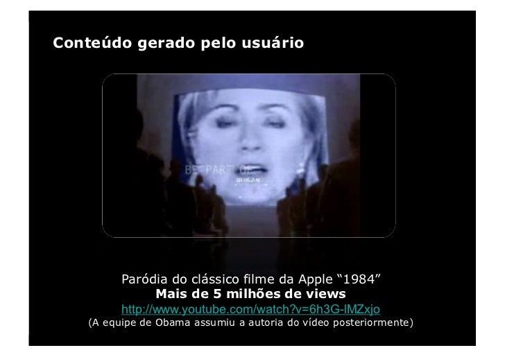 """Conteúdo gerado pelo usuário              Paródia do clássico filme da Apple """"1984""""                 Mais de 5 milhões de v..."""