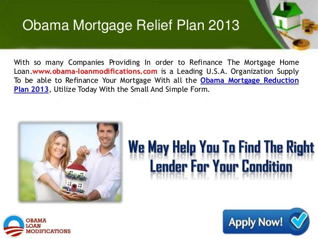 obama housing mortgage plan – house and home design