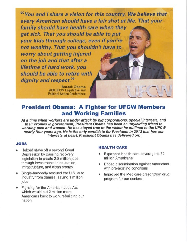 TOP LINE MESSAGE POINTS: PRESIDENT OBAMA 2012JobsPresident Obama has made jobs his number one priority. His Recovery Act p...
