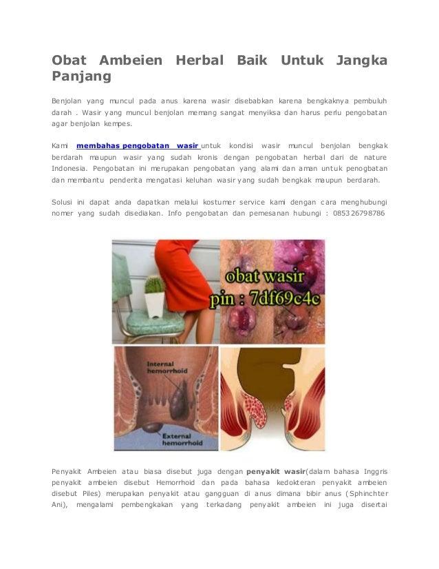 Obat Ambeien Herbal Baik Untuk Jangka Panjang Benjolan yang muncul pada anus karena wasir disebabkan karena bengkaknya pem...