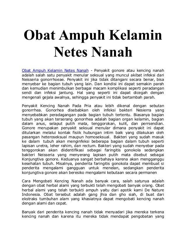 Obat Ampuh Kelamin Netes Nanah Obat Ampuh Kelamin Netes Nanah - Penyakit gonore atau kencing nanah adalah salah satu penya...