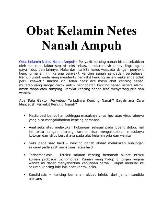 Obat Kelamin Netes Nanah Ampuh Obat Kelamin Netes Nanah Ampuh - Penyakit kencing nanah bisa disebabkan oleh beberapa fakto...