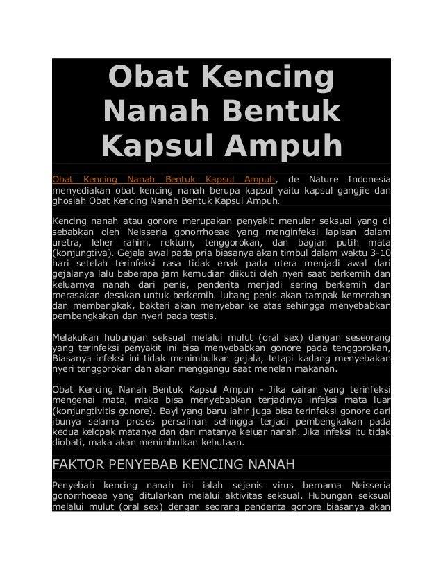 Obat Kencing Nanah Bentuk Kapsul Ampuh Obat Kencing Nanah Bentuk Kapsul Ampuh, de Nature Indonesia menyediakan obat kencin...
