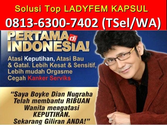 Solusi Top LADYFEM KAPSULSolusi Top LADYFEM KAPSUL 0813-6300-74020813-6300-7402 (TSel/WA)(TSel/WA)
