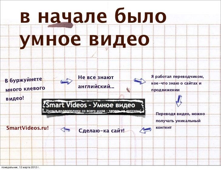 в начале было             умное видео                                Не все знают      Я работал переводчиком,  В буржуйне...
