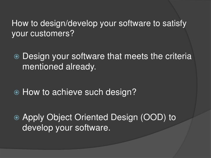 object oriented design essay Deliverable length 1–3 pages for this assignment, you will continue development of the object-oriented design for the ordering system the new content this week.