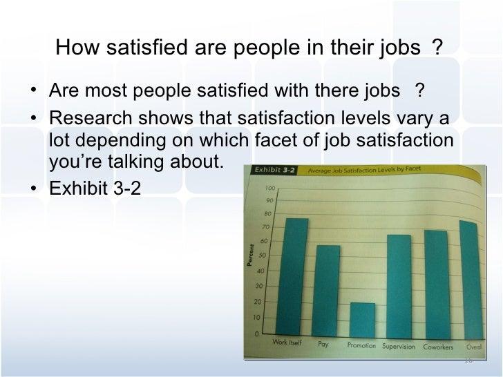 How satisfied are people in their jobs ? <ul><li>Are most people satisfied with there jobs  ? </li></ul><ul><li>Research s...