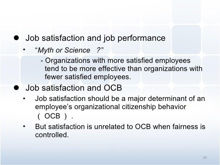 organizational behavior chapter 3 attitudes and job satisfaction