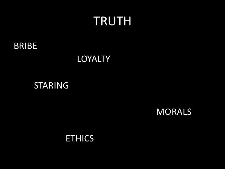 TRUTHBRIBE              LOYALTY    STARING                         MORALS          ETHICS