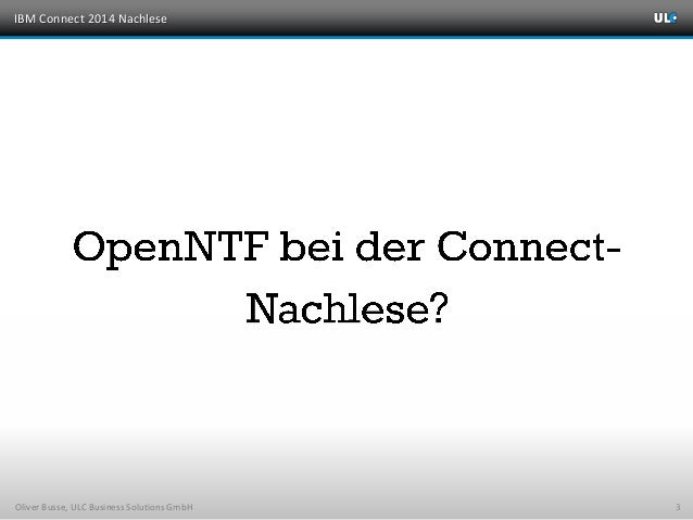 ULC - Connect 2014 Nachlese Slide 3