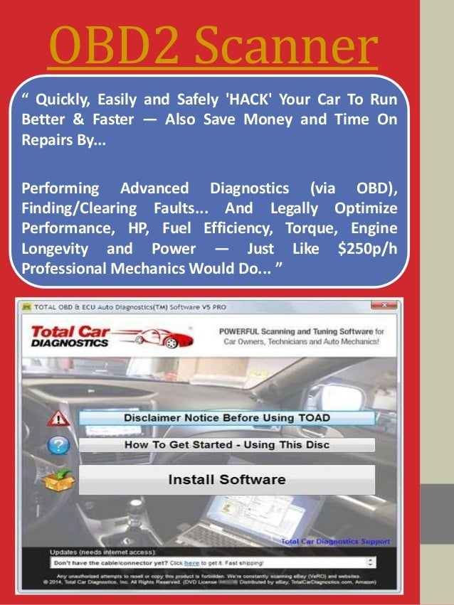 """OBD2 Scanner """" Quickly, Easily and Safely 'HACK' Your Car To Run Better & Faster — Also Save Money and Time On Repairs By...."""