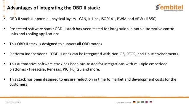 OBD II Stack Solutions And Services