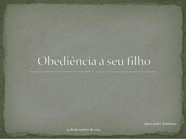 Alessandro Emiliano  14 de dezembro de 2014