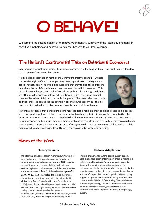 O Behave • Issue 2 • May 2014 O BEHAVE! Welcome to the second edition of O Behave, your monthly summary of the latest deve...