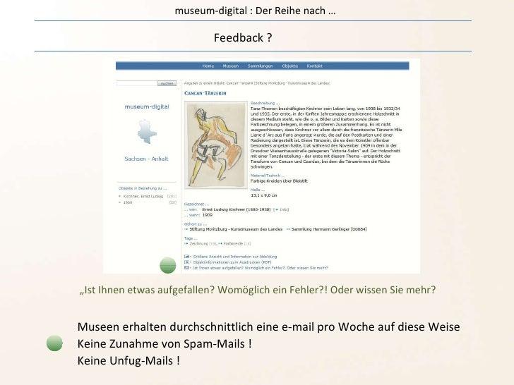 """museum-digital : Der Reihe nach … Feedback ? """" Ist Ihnen etwas aufgefallen? Womöglich ein Fehler?! Oder wissen Sie mehr? M..."""