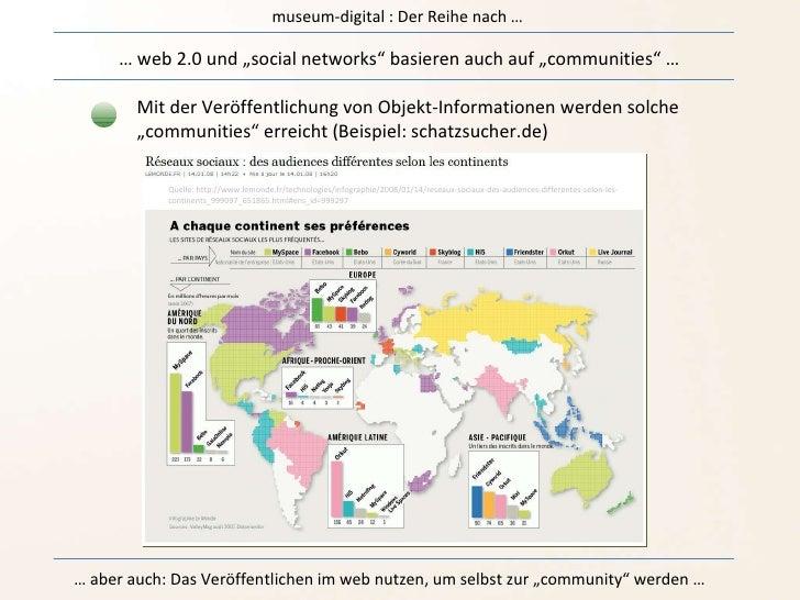 """museum-digital : Der Reihe nach … …  web 2.0 und """"social networks"""" basieren auch auf """"communities"""" … Mit der Veröffentlich..."""