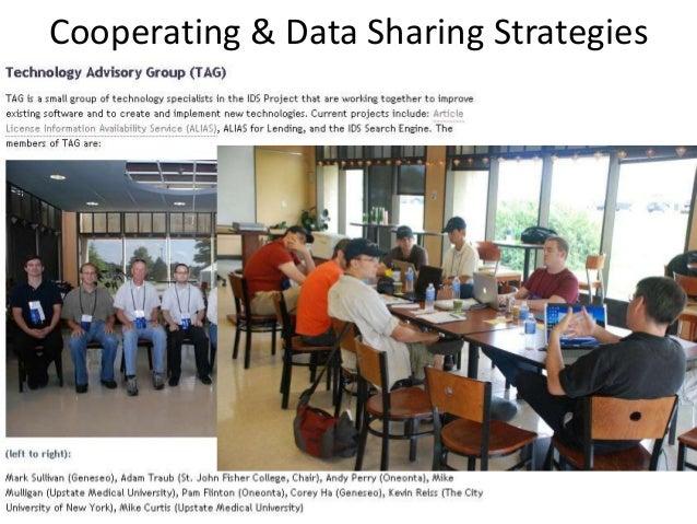 Cooperating & Data Sharing Strategies