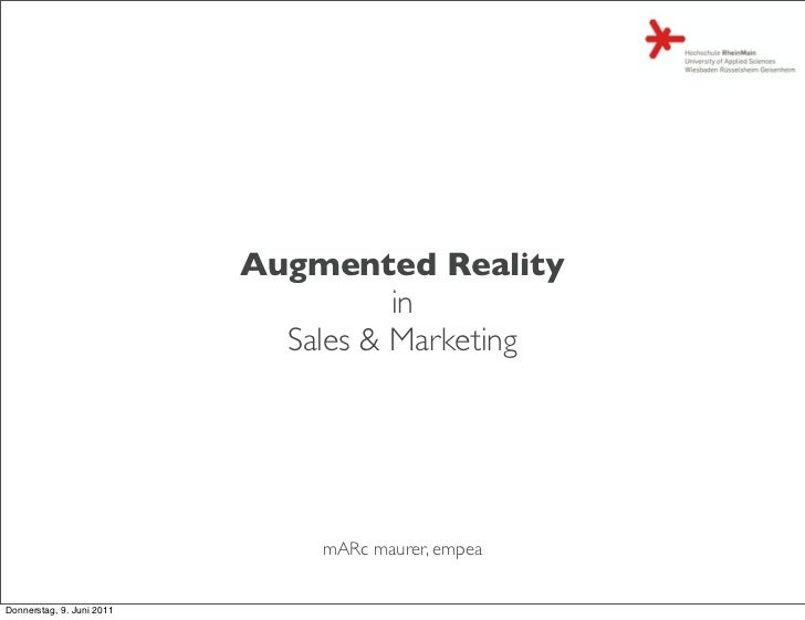 Augmented Reality                                     in                             Sales & Marketing                    ...