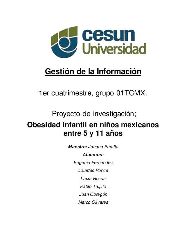 Obesidad infantil en niños mexicanos entre 5 y 11 años