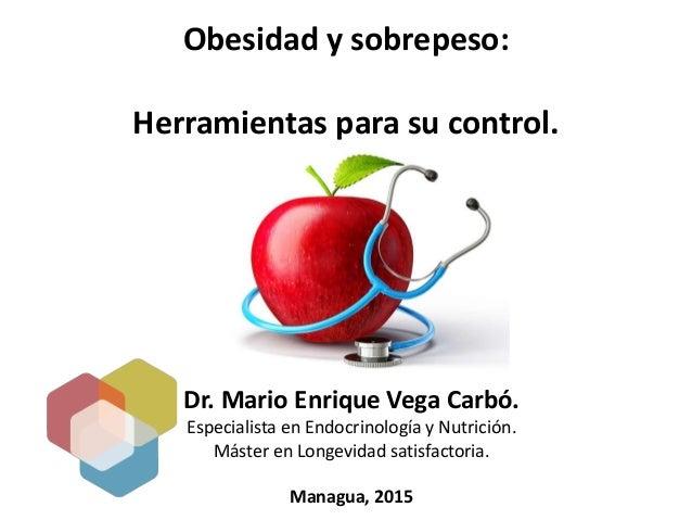 Dr. Mario Enrique Vega Carbó. Especialista en Endocrinología y Nutrición. Máster en Longevidad satisfactoria. Managua, 201...
