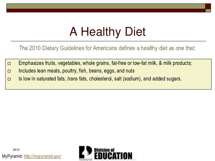 ... 42. A Healthy Diet The 2010 Dietary Guidelines ...