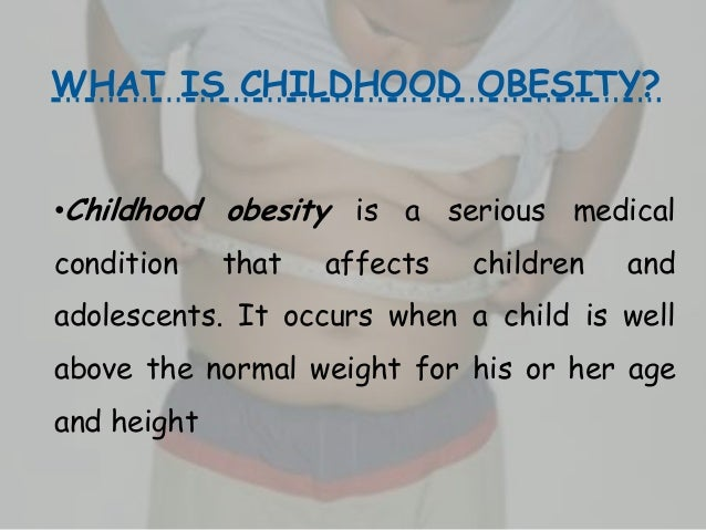 obesity in children in trinidad and tobagowhat is childhood obesity?