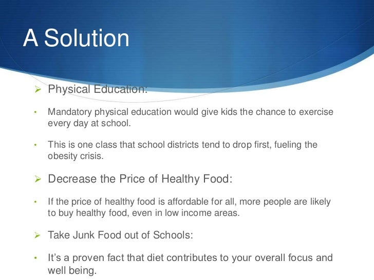 essay problem solution obesity What economic factors may be contributing to the problem of obesity, and   read more about the essay contest and other winning essays.