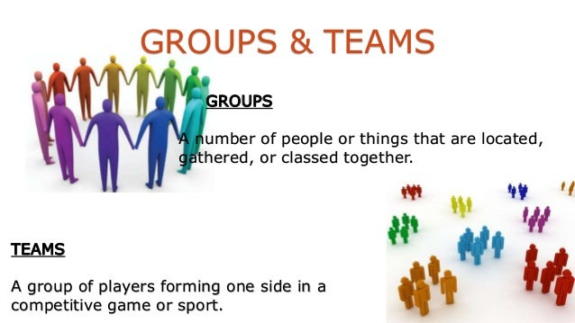 the formation of groups teams A clear understanding of groups and their formation and dynamics is essential before  are used for developing effective teams components of team building.