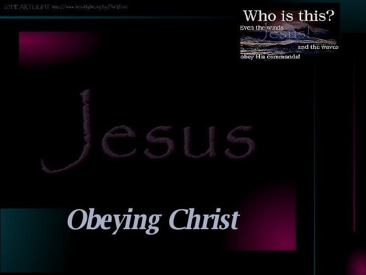 Obeying Christ Slide 2