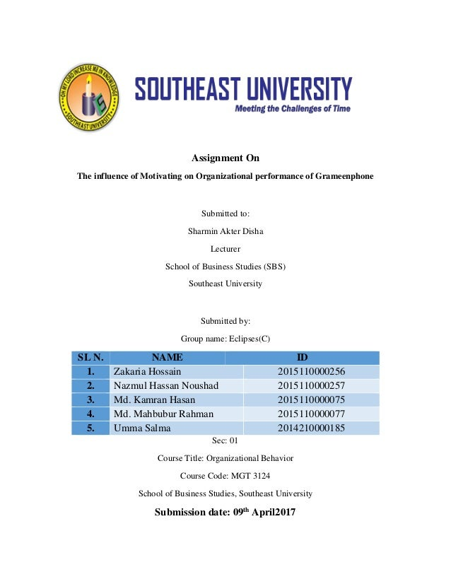 The Influence Of Motivation On Organizational Performance Of