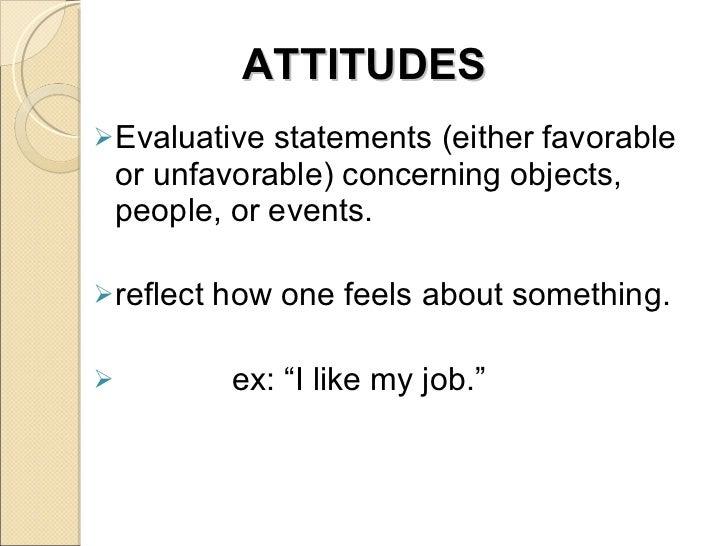 Attitude & Job Satisfaction Slide 2