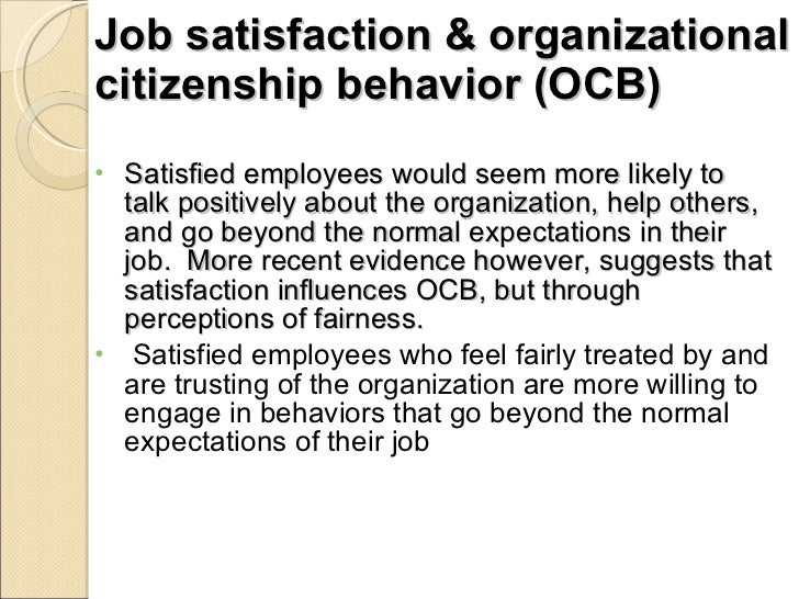 attitudes and job satisfaction ppt robbins Robbins and judge are recognized as definitive aggregators of ob concepts, applications, and practices of the major job attitudes—job satisfaction.