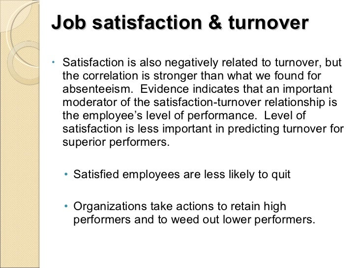 employee turnover and job satisfaction essay