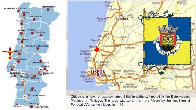 Portugal Óbidos - Portugal estremadura map