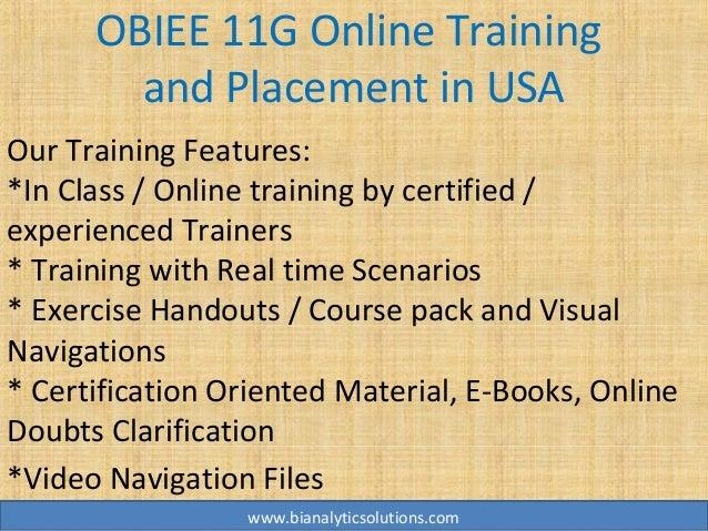 Obiee 11g Online Training Obiee 11g Training Obiee 11g