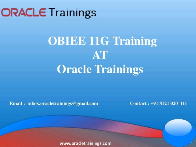 OBIEE 11G training | OBIEE 11G online training | oracle