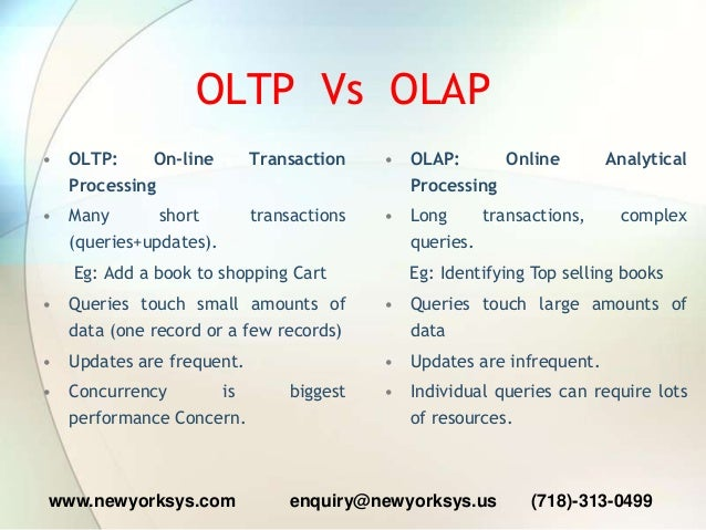 OBIEE 11g Training Online Class OLAP Vs OLTP differences - Reporting …