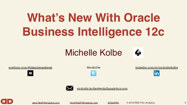 New Features in OBIEE 12c