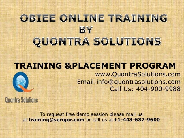 Obiee11g Training PPt By QuontraSolutions