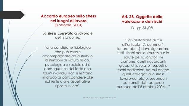 Obiettivi valutazione rischio stress lavoro-correlato Slide 3
