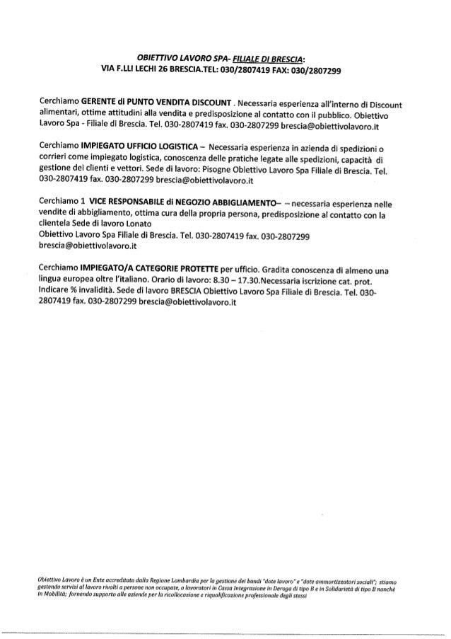 Obiettivo lavoro spa 27 11-2013